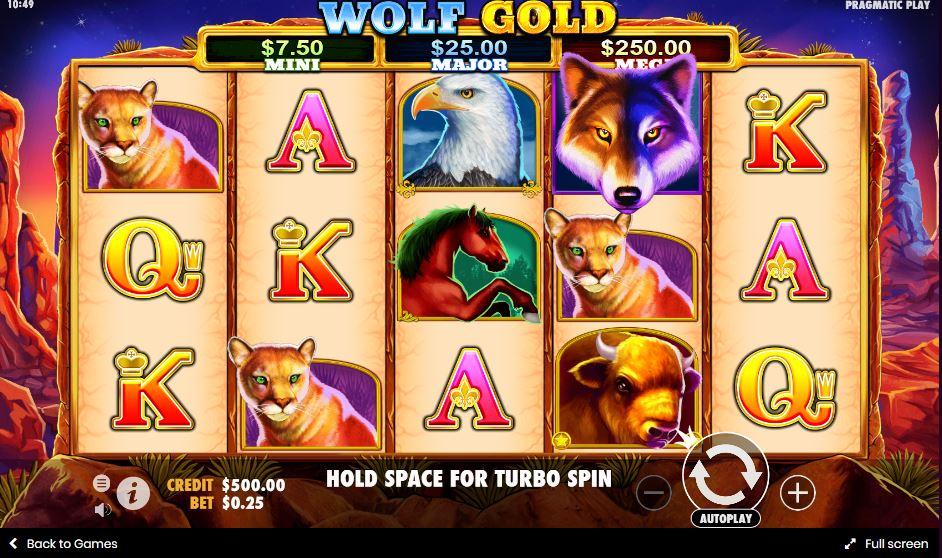 เกมสล็อต Wolf Gold